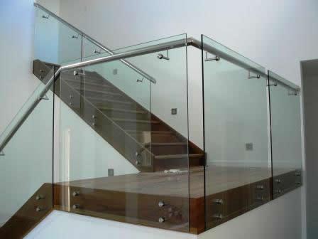 stainless steel & frameless glass