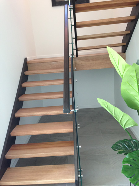 open housed stairs