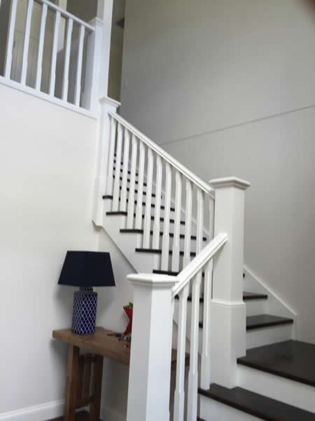 painted timber balustrades