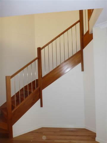 traditional timber staircase