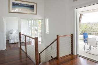 Timber and wire balustrade