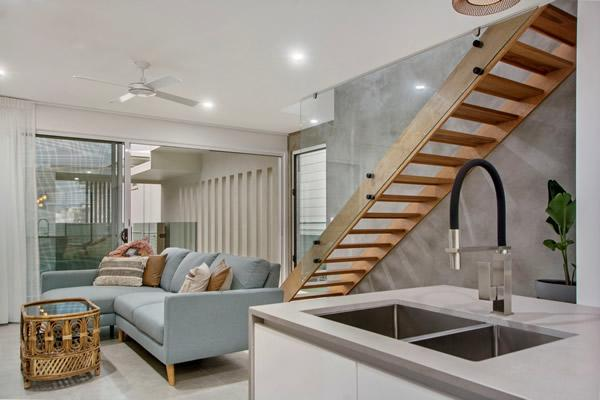 open housed stair design
