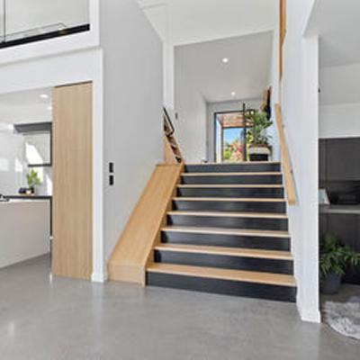 staircase with side slide